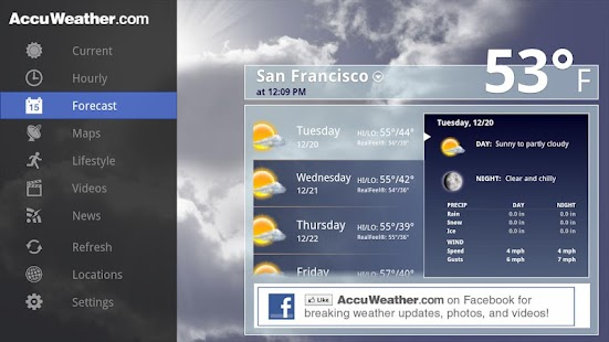 AccuWeather for Sony Google TV- screenshot thumbnail