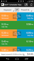 Screenshot of BART App