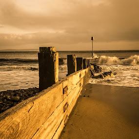 Avon  Beach  by Mark Usher - Landscapes Beaches ( waves, beach dorset, sea, avon )