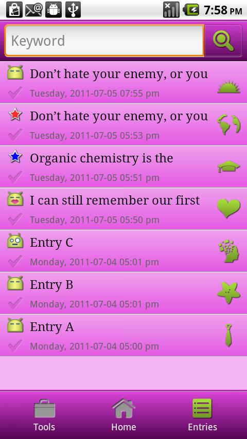 UM Diary 3 - screenshot