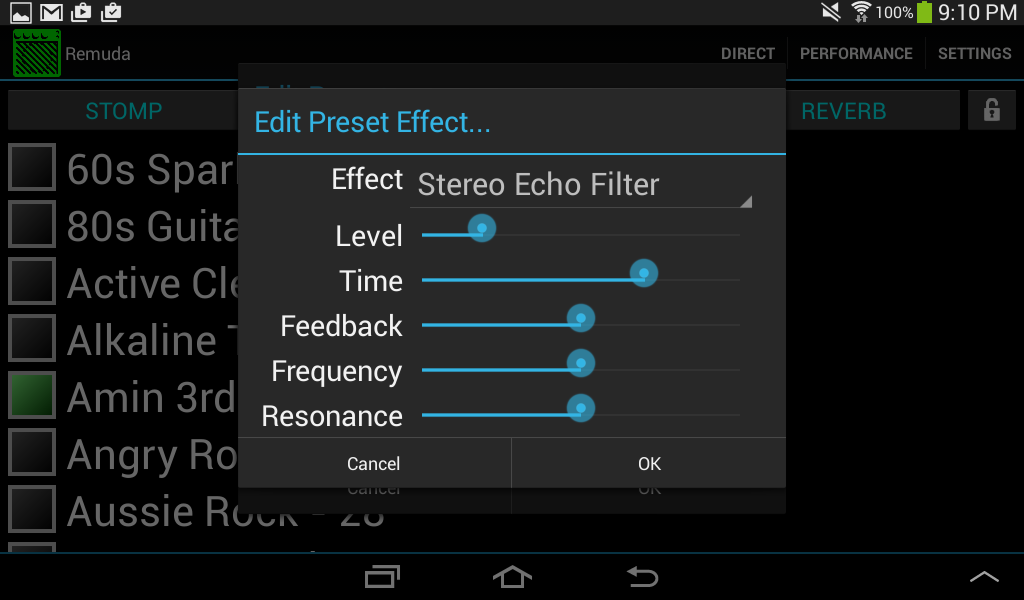 android - remuda editor for fender mustang amps