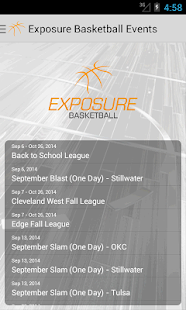 Exposure Basketball Events- screenshot thumbnail