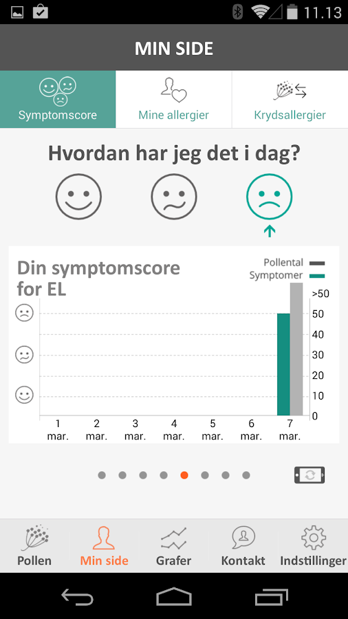 Dagens Pollental- screenshot