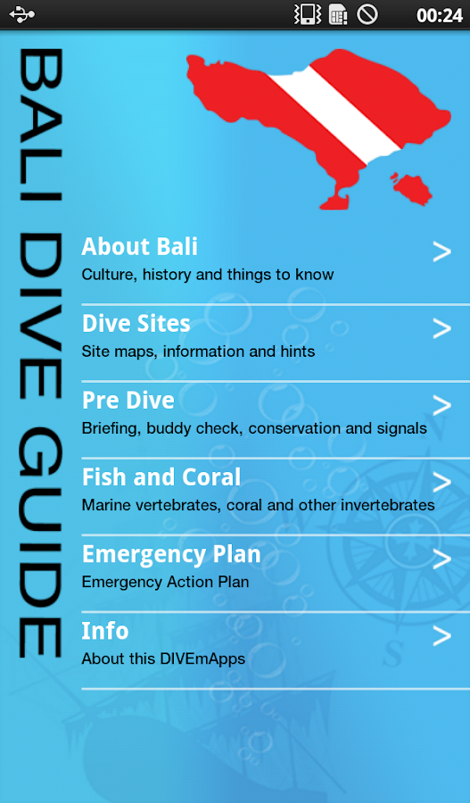 Bali Dive Guide- screenshot