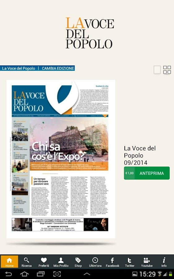 La Voce del Popolo- screenshot
