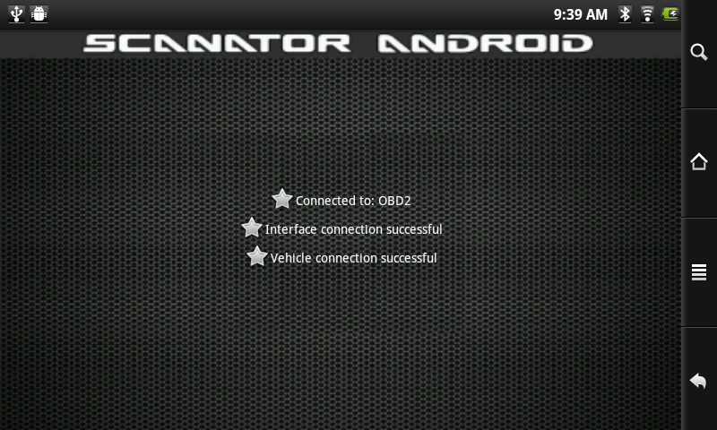Scanator Android (OB2) - screenshot
