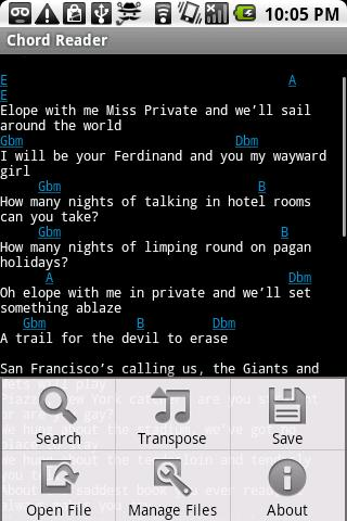 Chord Reader- screenshot