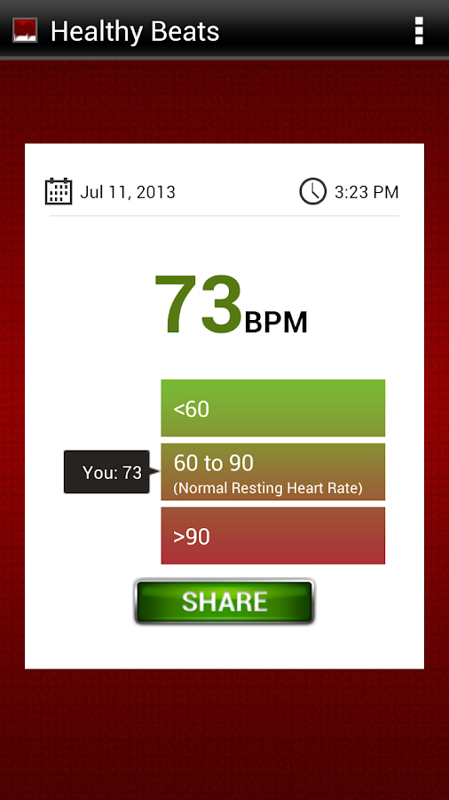 Healthy Beats - Heart Monitor - screenshot