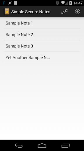 Simple Secure Notes