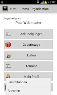 Appmidio - die App für Admidio - screenshot thumbnail