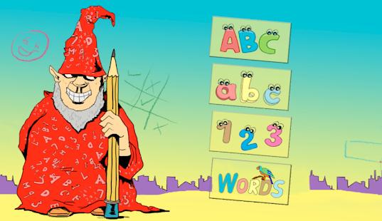 Write ABC and 123 screenshot