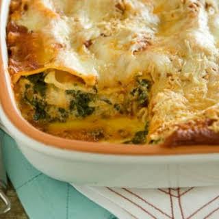 Spinach and Cheese Lasagna.