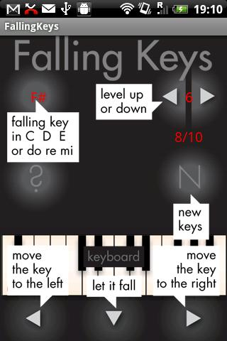 Falling Keys- screenshot