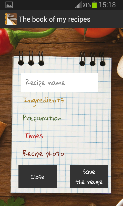 The book of my recipes pro- screenshot