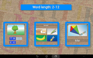 Screenshot of Languages:read and write words