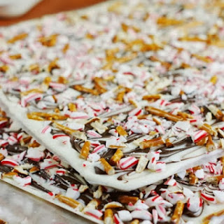 White Chocolate Peppermint-Pretzel Bark