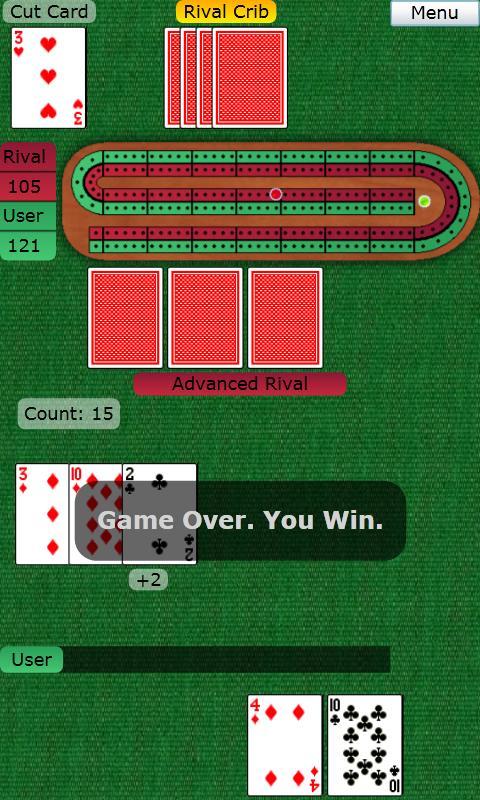 BTO Cribbage- screenshot