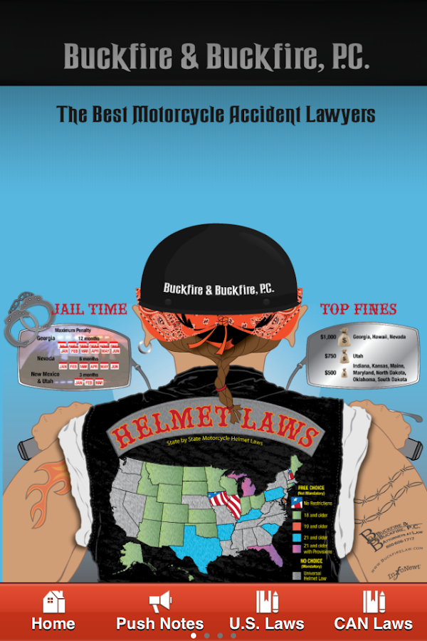 Motorcycle Helmet Laws- screenshot