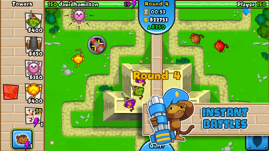 tower defence balloon