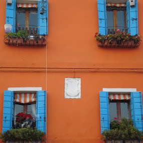 Burano Home in Colors by Pipia Kanjeva - Buildings & Architecture Architectural Detail ( #facade #italy #windows #colors #burano,  )