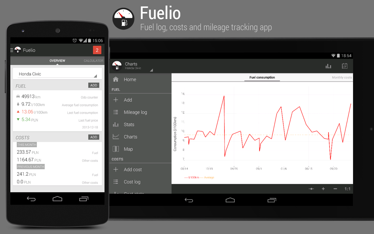 Fuelio: carburante e costi - screenshot