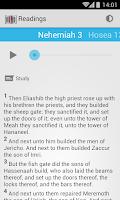Screenshot of Daily Bible Reading