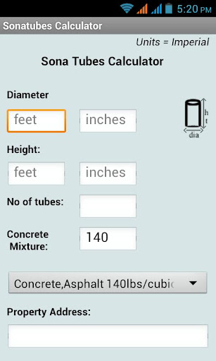 Sonotube Calculator