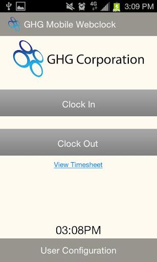 GHG Mobile Webclock