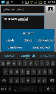 ICS keyboard full - screenshot thumbnail