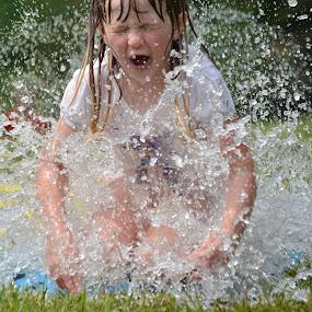 Splashing good fun! by Carolyn Parks - Babies & Children Children Candids