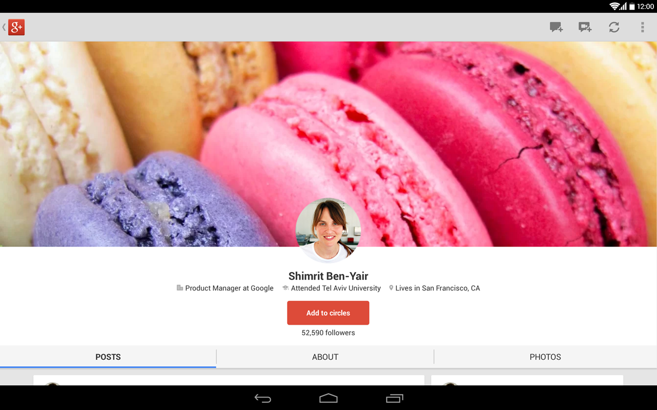 Google+ - screenshot