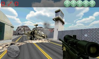 Screenshot of sniper command, airport war