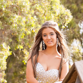 Tameka Prom by Emily James - People Portraits of Women ( graduation; prom; yellow dress; princess; beautiful woman,  )