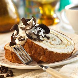 Tiramisu Vanilla Bean Cake Roll.