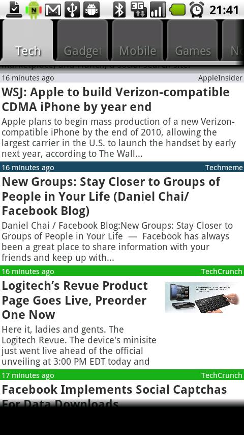 Newsflash Plus- screenshot