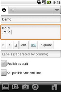Blogger-droid (Ad-free)- screenshot thumbnail