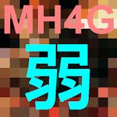 MH4G Weak 弱点早見表