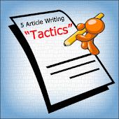 5 Article Writing Tactics