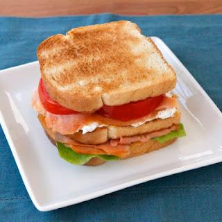 Smoked Salmon Club Sandwich.