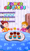 Screenshot of Flower Cupcakes Cooking