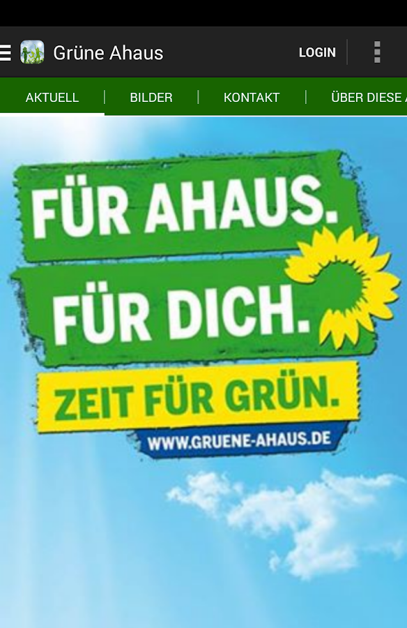 Bündnis 90/Die Grünen Ahaus - screenshot