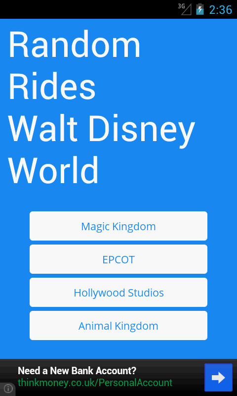 Random Rides: Disney- screenshot