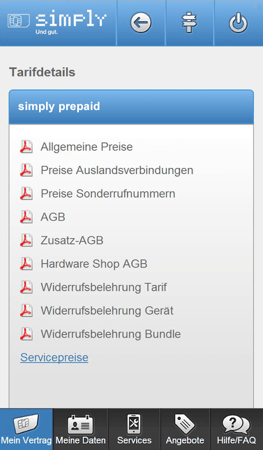 simply Servicewelt- screenshot