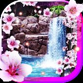 Sakura Waterfall livewallpaper