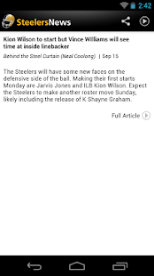 Steelers News - screenshot thumbnail