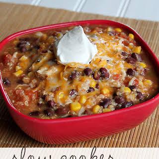 Slow Cooker Quinoa Chicken Chili.