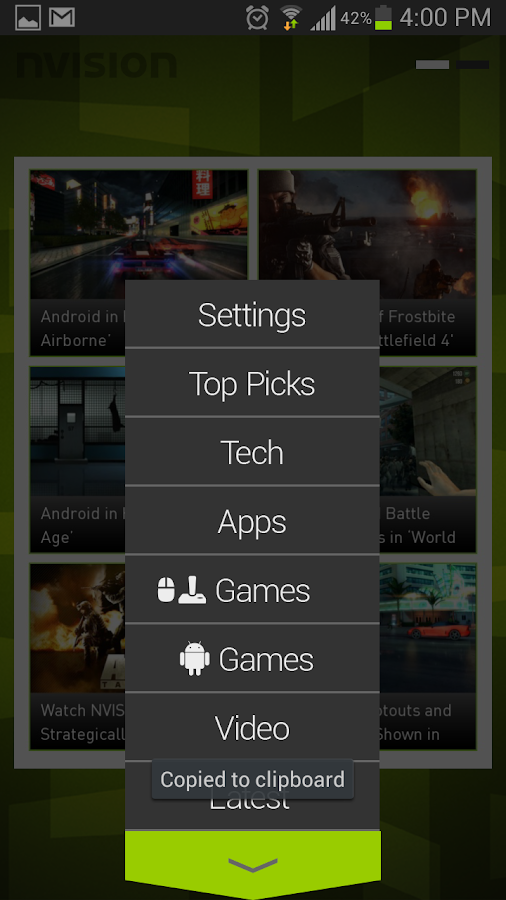 NVision News App for Android - screenshot
