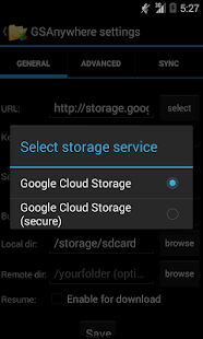 GSAnywhere (Cloud Storage)- screenshot thumbnail