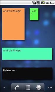 Post-it Widget