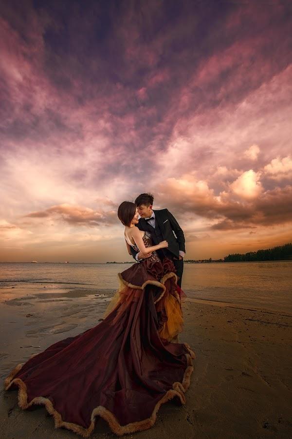 Celebrating Ben & Cindy by Desmond Teo - Wedding Bride & Groom ( weddings, wedding, sunset, woman, pre wedding, marriage, man, singapore, moretopurple )